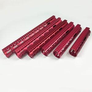 7,9,10,12,13.5,15 polegadas Ultralight free float keymod handmod handguard monolítico top trilho vermelho cor porca de aço