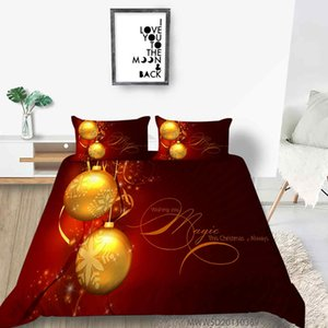 Merry Christmas Bedding set Duvet cover with pillowcases Red Christmas Tree and Deer Bed Set Christmas gift for Kids Teens