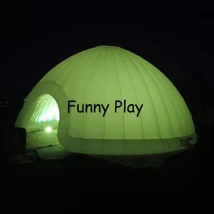 LED Inflatable Dome Tent Booth White photobooth enclosure led inflatable dome tent giant LED dome inflatable tent for event Z1123