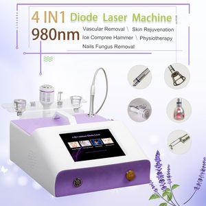 980nm 다이오드 레이저 혈관 치료 기계 얼굴 혈관 치료 혈류 제거 곰팡이 손톱 처리 다이오드 레이저 980nm 기계
