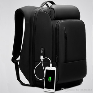 School Business Backpack USB External Charge 17 Inch Computer Laptop Shoulders Men Bag Anti-theft Waterproof Travel Backpacks Luggage bags