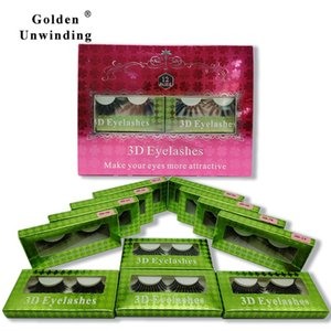 12 Pairs Makeup Eyelashes 5D Mink Lashes Natural Long Reusable False Eye Lash 3D Silk Golden Unwinding