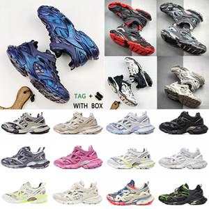2020 Высококачественные мужчины Женщины Track 4.0 2.0 3.0 Спортивная обувь Тройной S Черный Сравнить кроссовки Зеленые моды Тренеры 18ss Подобный дизайнер # 889