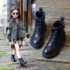 Novos Crianças Botas do tornozelo Primavera Primavera Casual Respirável Couro Genuíno Meninas Sapatos Princesa Bebê Criança Crianças Botas 03