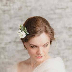 Fashion Artificial Rose Flower Hair Clips 6 Colors Bride Wedding Hair Accessories Floral Hairpins for Women Elegant Barrettes