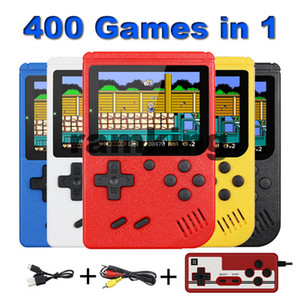 400 game in 1 portable handheld game console connected to TV retro 8 bit 3 inch color LCD display children's best gift retail packaging