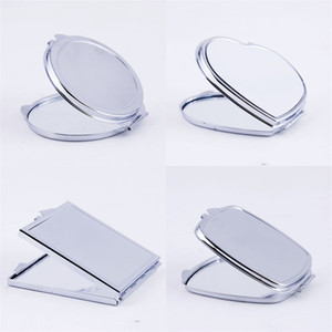 Sublimation Blank Cosmetic Mirror DIY Aluminum Sheet Electroplated Iron Compact Mirrors Women Girl Exquisite Gift Decorate Hot Sale 3 2xm M2