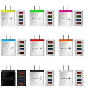 Portable 5V 5.1A 4 Usb Ports EU US Ac Home Travel Power Adapter Wall Charger Plug For IPhone Huawei Samsung PC Mp3