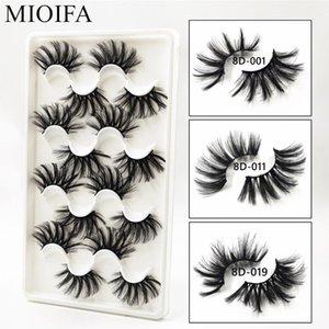 MIOFIA 8 pairs 25mm cruelty-free false eyelashes 3D dramatic fluffy lashes dense and gorgeous mink eyelashes extensions