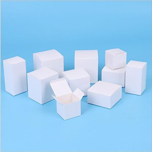 10pcs White Paper Folding Boxes Small Handmade DIY Gifts Packaging Boxes White Cardboard Carton for Party Supplies