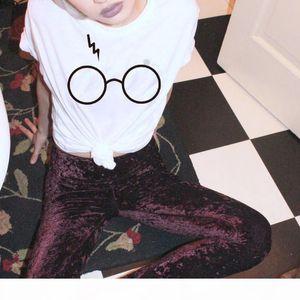 Hart Porter magic glasses print fashion t-shirts for women tops plus size t shirt casual short sleeve crop top tshirt WT39 WR