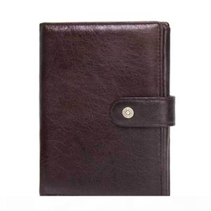 ABER 2020 New Crazy Horse Leather Fashion Casual Hasp Solid Document Folder Multifunction Passport Holder Wallets