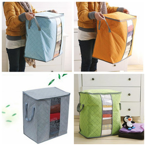 Quilt Storage Bag Portable Prganizer Non Woven Clothing Pouch Holder Blanket Pillow Underbed Storage Bag Clothing Storage Bags LLS518