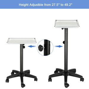 Rolling Aluminum Mobile Tray Hospital Equipment Salon Medical Tattoo Stand US