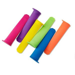 Popsicle Kalıp 6 Renk DIY Silikon Popsicle Tutucu Renkli Dondurma Kol Çevre Kalıp Araçları Kapak Ürünleri ile HWA2441