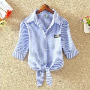 Chemise Femme women shirts blouses Striped blouse blusas mujer Korean ladies tops blusas y Plus Size Clothing 4xl camisa mujer