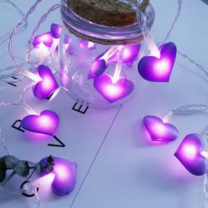 LED Fairy Lights Love Coeur Shape Batterie Powered 1.5m 3M LED String Light Holiday Holiday Fête De Noël Fête de Noël LED Lights Décoration
