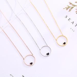 TSHOU191 Titanium Steel Love Necklace Women's Clavicle Chain Non-fading Pendant Jewelry Y1130