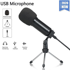 Condenser Microphone With Tripod USB Computer Microphone For PC For Phone Karaoke Live Broadcasting1