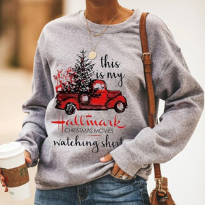 This Is My Christmas Movies Watching Shirt Hoodie Women Long Sleeve Sweatshirt Oversized Xmas Streetwear Casual Print Tops LJ201124