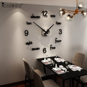 Meisd Quality Acrylic Wall Reloj creativo moderno diseño calcomanía de cuarzo reloj negro decoración para el hogar sala de estar Horloge envío gratis Z1207