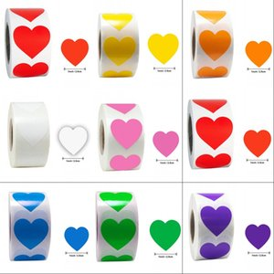 Valentine's Heart Red Stickers seal labels 500 stickers roll Labels stickers scrapbooking 245 N2
