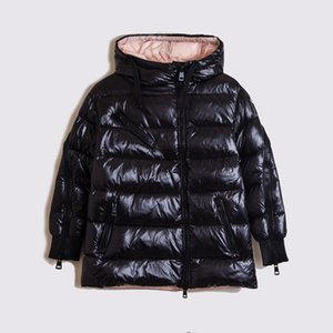 The new winter type cocoon inclined zipper upset down jacket female hooded loose cloak goose down jacket