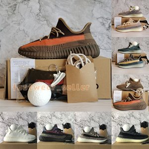 Ash Blue Stone Pearl Kutu Çorap Topu Abez Yecher Oreo İsrafil cüruf Yansıtıcı Kanye West Bred Zyon Erkek Kadın Eğitmenler Sport Sneakers Boyut 13 Koşu Ayakkabıları ile
