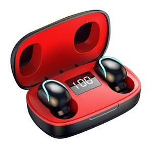 Gift Wireless Earbuds Travel Music In-Ear For Sports With Charing Case Digital Display Mini Portable Bluetooth 5.0 Waterproof