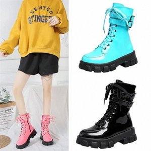 Women High quality leather Boot Autumn Winter Fashion Women Thick bottom Wear-resistant non-slip Side zipper ankle boot #Nk0b