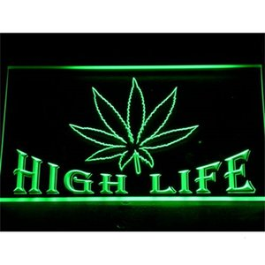 403 Leaf High Life Bar LED Neon Light Signs with On Off Switch 20+ Colors 5 Sizes to choose