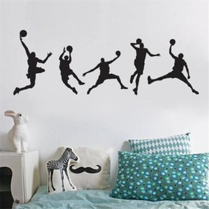 High Quality Basketball Players Slam Wall Sticker Sport Home Decor Dunk Decal for Boy's Room Gift Large Vinyl Mural