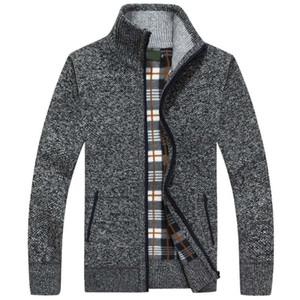 2020 New Autumn Winter Men Sweater Warm Cashmere Wool Zipper Cardigan Men Coat Dress Casual Knitwear Male Clothes J1204