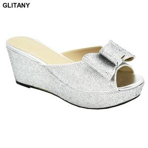Latest Design Summer Slippers Wedding Shoes Bride Cristal Women Comfy Platform Sandal Shoes Spring Platform Women Elegant