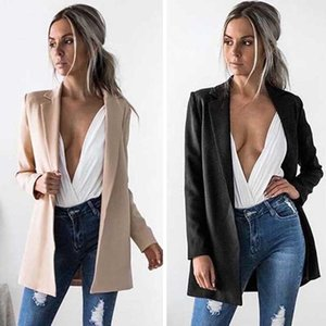 2020 New Fashion Women Ladies Suit Coat Jacket Business Slim Long Sleeve Jacket Coat Top Outwear Cardigan Fall Autumn Wearing
