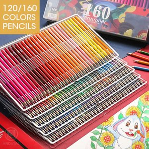 120 160 Colors Wood Colored Pencils Set Lapis De Cor Artist Painting Oil Color Pencil For School Drawing Sketch Art Supplies Y200428