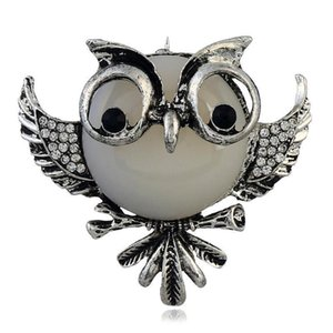 high end Fashionable European and American Fashion Dress Creative Cute Animal Pin Stereo Owl Brooch
