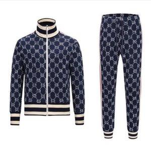 Мужские трексеи дизайнеры Толстовка для беговых костюмов Мода Письмо Phanter Paper Print Whingsuits Men Cardigan Sportswear Jogger 2 шт. Костюм