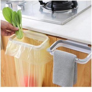 Garbage Bag Holder Hanging Trash Bag Kitchen Cupboard Stand Trash Storage Rack Cabinet Portable Gadgets Tools Drop bbyATb
