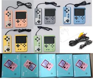 Mini Palmare Macaron Game Console 500 in 1 Retro Video Game Game Console 8 Bit 3,0 pollici Supporto LCD colorato Due giocatori con scatola al dettaglio