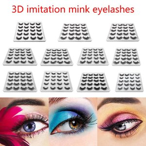 10 Pairs 3D Mink Hair Long Eye Makeup False Fiber Eyelash Beauty Extension Tools Lashes Soft Eyelash Extension Makeup Kit