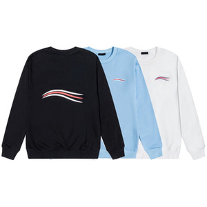 20FW Deniz Dalga Mektupları Baskılı Moda Hoodie Erkekler Için Kış Tişörtü Kadın Kazak Hoodies O-Boyun Kazak Rahat Streetwear Propcm
