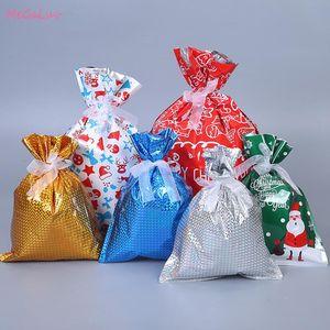 Рождественские украшения подарочные сумки с лентами конфеты упаковочный пакет пластиковый пакет праздник угощение свадебный фестиваль партий