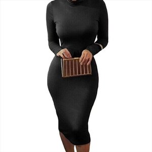 Spring 2020 Autumn midi Dress Women white Bodycon Dress female Long Sleeve Sexy Club Party Dresses Black Bandage Vestidos