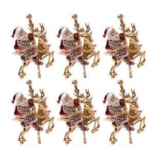 Promotion! 6Pcs Christmas Reindeer Napkin Buckle Upscale Restaurant Hotel Table Set Santa Napkin Ring Ring
