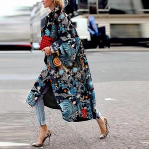 bg2sa nuevo elegante moda estrella estampado doble cara tweed funda larga manga nueva elegante moda estrella impresión doble cara tweed pesado abrigo largo