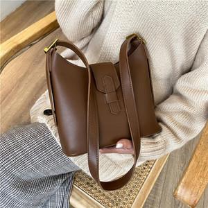 Toposhine Solid PU Leather Women Tote Bag 2020 Winter Women's Crossbody Handbags and Purses Lux Cross Body Shoudler Bag
