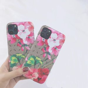 Designer Case for iphone 11 Pro Max 12 mini Xs X XR 8 7 Plus fashion print flower hard back phone cover cellphone shell A03