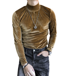 2020 Otoño e invierno Camisa de franela de hombres de rayas de invierno gruesa gruesa gruesa gruesa gruesa, GH63