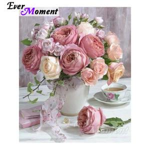 MOMENTO MUMPO 5D DIY Diamond Bordado rosa Rose en jarrón Diamond Mosaic Drills Plaza Plaquetes Frutas de arte Decoración del hogar ASF1132 C1123 C1123
